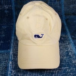 Vineyard Vines Pale Yellow Baseball Cap Blue Whale